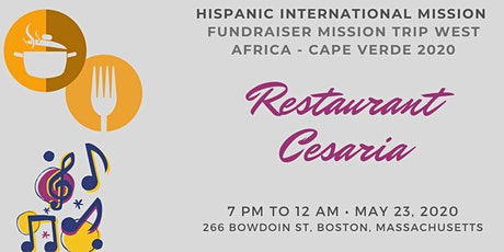 Restaurant Cesaria - Fundraiser Mission Trip West Africa - 2020 - H.I.M. tickets