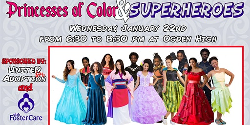 Princesses of Color & Superheroes by UFA and Utah Foster Care