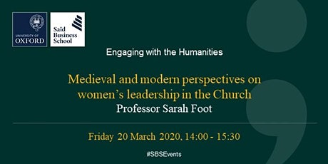 Engaging with the Humanities - Professor Sarah Foot tickets