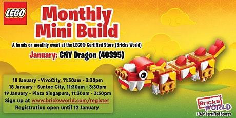 LEGO® Monthly Mini Build (January 2020) - LEGO® Suntec City tickets