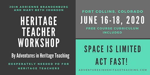 Heritage Teacher Workshop by Adventures in Heritage Teaching, June 2020