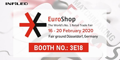 Join us at Germany Dusseldorf Euroshop INFiLED Booth: 3E18