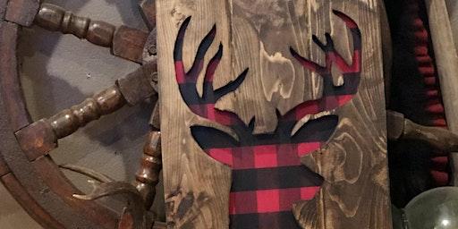 Buffalo Plaid Buck Silhouette