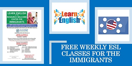 Free Weekly ESL Classes tickets