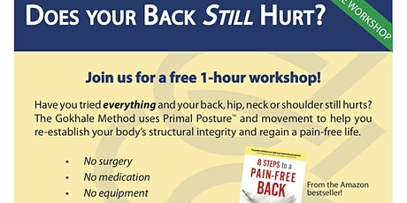 SIT SLEEP AND WALK YOUR WAY TO A PAIN-FREE BACK tickets