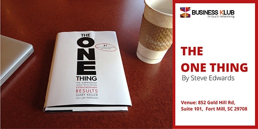 The One Thing - By Steve Edwards