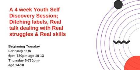 "4 week Youth Discovery Session ""Peel off labels & gain self awareness"" tickets"