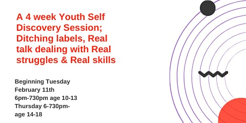 "4 week Youth Discovery Session ""Peel off labels & gain self awareness"""