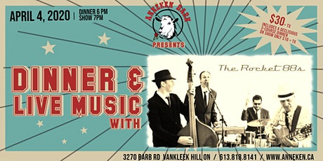 Dinner & Live Music with THE ROCKET 88s billets