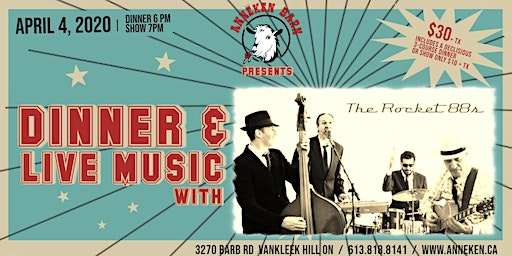 Dinner & Live Music with THE ROCKET 88s