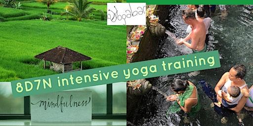 8D7N intensive yoga training in Bali