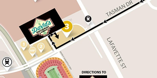 DAVID'S GAMEDAY (Includes Parking) 49ers NFC Championship-Jan 19th-YELLOW LOT