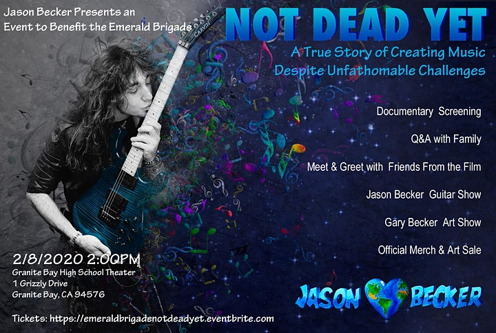 Jason Becker Presents a Not Dead Yet Event to Benefit the Emerald Brigade image