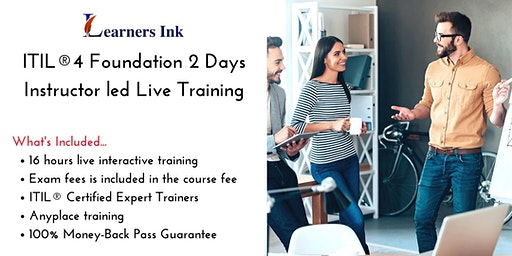 ITIL®4 Foundation 2 Days Certification Training in Snow Lake