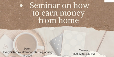 Seminar on work from home opportunity! - With RTMT Founders tickets