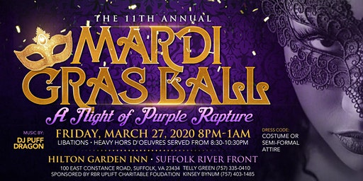 "11th Annual Mardi Gras ""A Night of Purple Rapture"""