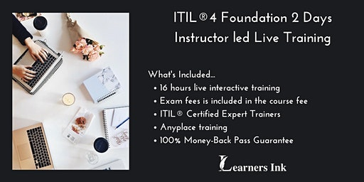 ITIL®4 Foundation 2 Days Certification Training in Laurentian Hills