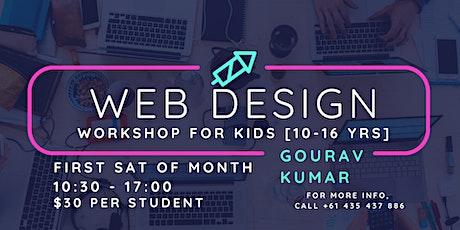 Website design workshop for Kids [10-16yrs] tickets
