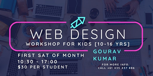 Website design workshop for Kids [10-16yrs]