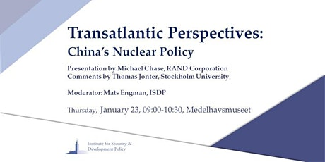 Transatlantic Perspectives: China's Nuclear Policy biljetter