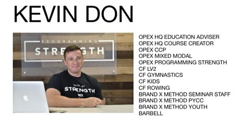 Kevin Don Strength & Energy System Seminar