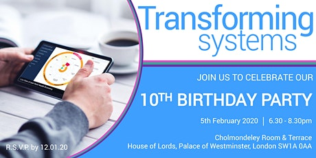 Transforming Systems Ltd: 10th Birthday Celebration tickets