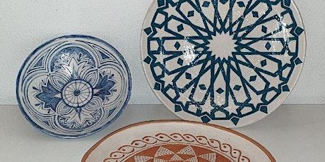 Corso di ceramica, engobbio - ciotola biglietti