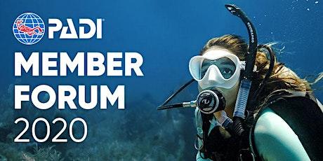 PADI Member Forum 2020 Duikvaker Houten Zondag tickets