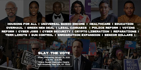 #SlayTheVote with JFK for Congress at Boxers Washington Heights tickets