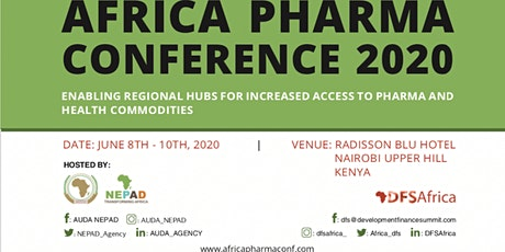 AUDA-NEPAD and DFS AFRICA PHARMA CONFERENCE 2020 tickets