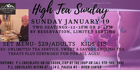 High Tea Sunday tickets