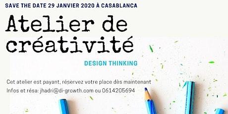 Atelier de Créativité-Workshop de Design Thinking par DI GROWTH MAROC billets