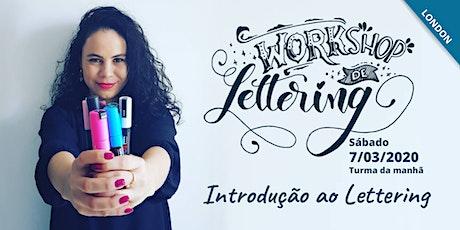 Introdução ao Lettering (Português) Intro to Lettering Workshop  tickets
