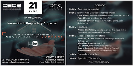 Copia de Innovation in Company: Innovation in Proptech by Grupo LAR entradas