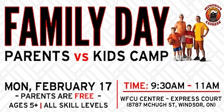 Windsor Express Family Day Basketball Camp- Parents vs. Kids tickets
