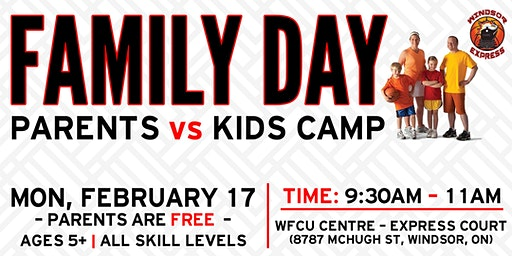 Windsor Express Family Day Basketball Camp- Parents vs. Kids