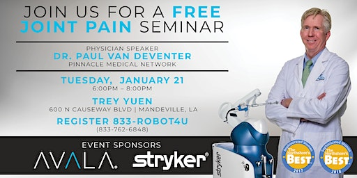 Free Joint Seminar - Paul van Deventer, MD