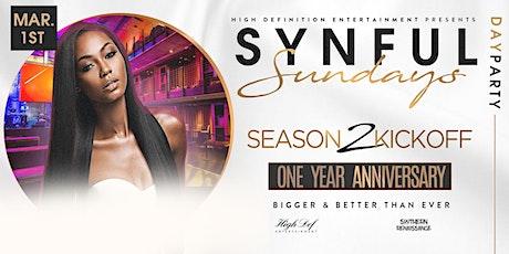 Synful Sundayz Day Party.... Season 2 Kickoff tickets