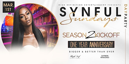 Synful Sundayz Day Party.... Season 2 Kickoff