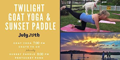 Twilight Goat Yoga & Sunset Paddleboard tickets
