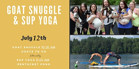 Summer Goat Snuggle & SUP Yoga  tickets