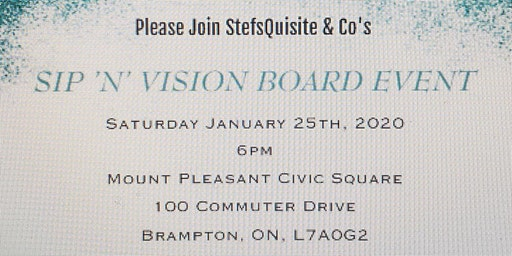 Sip 'N' Vision Board Event