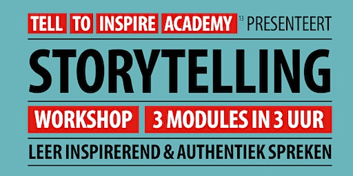 Workshop Storytelling  | 3 modules in 3 uur
