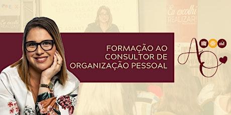 FORMAÇÃO AO CONSULTOR DE ORGANIZAÇÃO PESSOAL ingressos