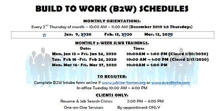 Build 2 Work Softskills, Lifeskills and Work Readiness Training January 2020 tickets