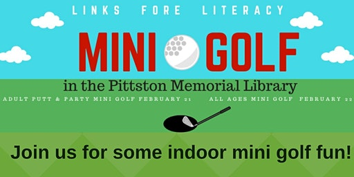 Mini Golf IN the Pittston Library