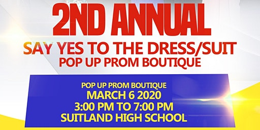 Pop Up Prom Boutique  Say Yes To the Prom Dress / Suit