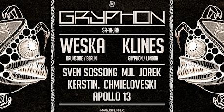 GRYPHON pres. Weska [Drumcode], Klines, Sven Sossong, uvm Tickets