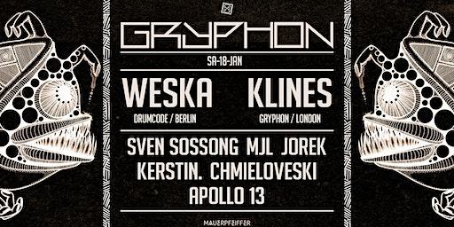 GRYPHON pres. Weska [Drumcode], Klines, Sven Sossong, uvm