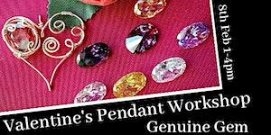 Valentine's Gemstone Heart Pendant